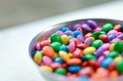 Caio Resende, public domain photo found at https://www.pexels.com/photo/close-up-view-colorful-candy-chocolate-65547/