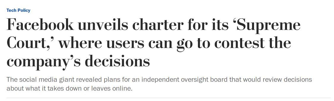 headline about Facebook supreme court