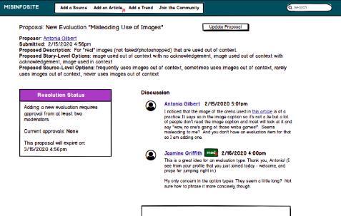 screenshot of Misinformation website #2