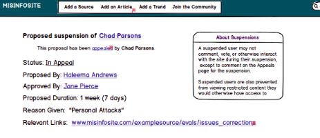 screenshot of Misinformation website #3